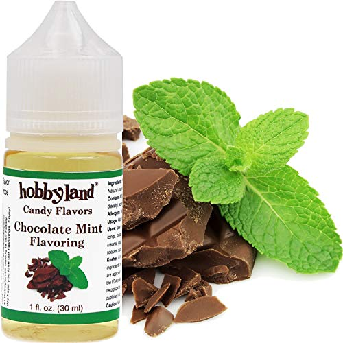 Hobbyland Candy Flavors (Chocolate Mint Flavoring, 1 Fl Oz), Chocolate Mint Concentrated Flavor Drops