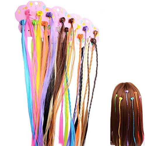 24 Stück Kinder Bunte Haarsträhnen mit Haarclips,Haarschmuck Mädchen Set Torsion Haarschmuck, bunt, verschiedene Farbe, Kann für Geburtstagsfeiern und Haarschmuck für Kinder verwendet werden