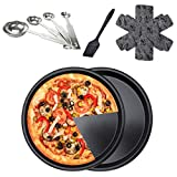 Pizza Pan 10 Inch for Oven , Stainless Steel Pizza Deep Dish Pizza Tray, Round Baking Pan, Nonstick...