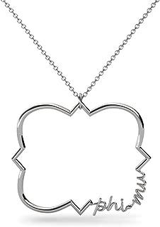 Phi Mu Sorority Jewelry Choker Necklace Floating Minimalist Sorority Necklace Sorority Boho Necklace