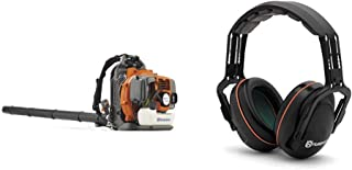 Husqvarna 350BT 50.2cc Professional Backpack Blower with Professional Headband Hearing Protector