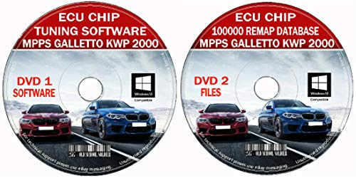 OSS-2517 Tuning Software auf 2 CDs in English - Car Chip Tuning Database 100k Files + Pro Software Remap Galletto Kwp2000 + 2 CD