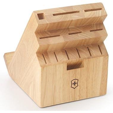 Victorinox Swiss Army Swivel Universal Knife Block, Natural Wood