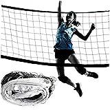 Pallavolo netto portatile Badminton Net Professional Sports Pallavolo netto per esterni e interni Practice Net (bianco)