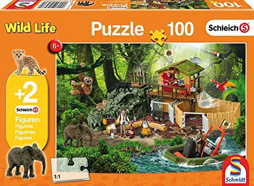 Schmidt Spiele 56238 Kinderpuzzle Schleich F, braun