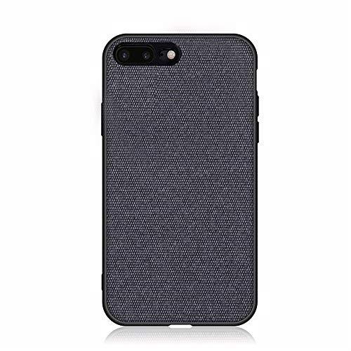 Funda iPhone 8 7 Plus, Ultra Delgado Patrón de Tela Suave Carcasa Silicona Suave TPU Bumper y Duro PC Concha Anti-Arañazos, Anti-Golpes Case Cove (iPhone 7 8 Plus, Azul)