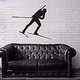 Biathlon Wandaufkleber Aufkleber Skifahren Eissport Poster