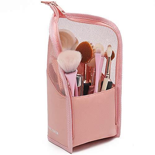 Trousses à Maquillage Voyage petit organisateur de trousse de maquillage portable étanche pour les filles et les femmes (Rose)