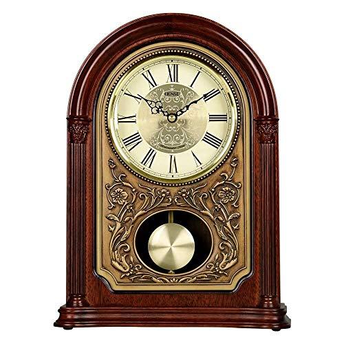 SOAR Tischuhren Nordic Vintage-Tischuhr Uhr Antike Uhr Geschenk, Geeignet for Wohnzimmer-Dekoration, Kamin, Schreibtisch, 33x24.5x10cm