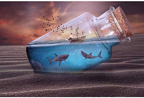FXNB Composición del Juegoniños Adultos 1000 Piezas Puzzle Toy Creative Seascape Bottle Puzzle DIY Regalo Educativo Tamaño: 75X50Cm