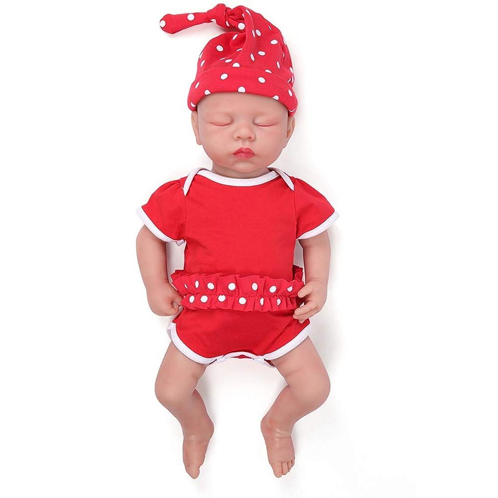 無知乳剤場所リアルなソフトスリーピングフルシリコンリボーンベビードール、より柔軟なリアルな新生児赤ちゃんのおもちゃ3歳以上向けの最高の誕生日プレゼント