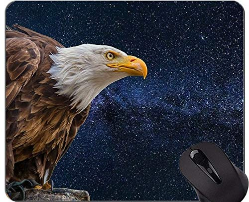 Gaming Mouse Pad Benutzerdefinierte, Outdoor Wild Eagle Themes Mouse Pad mit genähtem Rand
