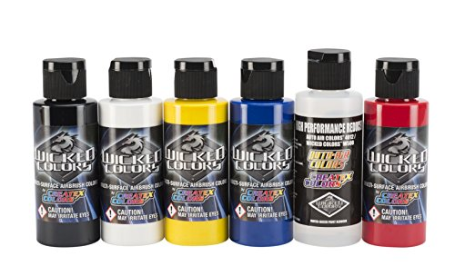 Wicked Colors W101-00 Wicked Primary Set Airbrush