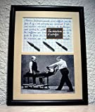 Tableau avec photo ancienne et texte sur le métier de kinésithérapeute. Création artisanale Française....