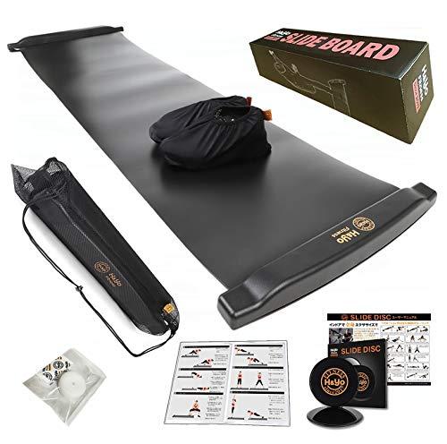 H&Yo スライドボード スライダーボード スライディングボード 万能スライドディスク付属 自宅で効率よく有酸素運動 200cm