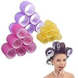 Jumbo Size Hair Roller sets, Self Grip, Salon Hair Dressing Curlers, Hair Curlers, 3 size 18 packs...