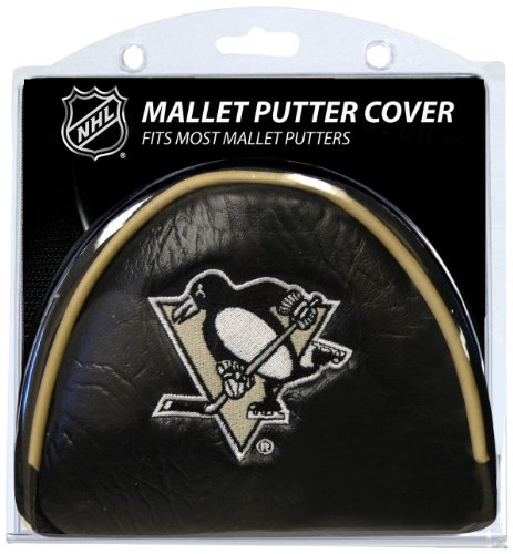 Team Golf NHL Pittsburgh Penguins Golf Club Mallet Putter Headcover, Fits Most Mallet Putters, Scotty Cameron, Daddy Long Legs, Taylormade, Odyssey, Titleist, Ping, Callaway