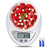 Roveinsia Food Scale, 11lb Digital Kitchen Scale Weight Grams and oz for Cooking Baking, 1g/0.01oz Precise Graduation, High Accuracy with Tare & Auto Off Multifunction (Battery Included)