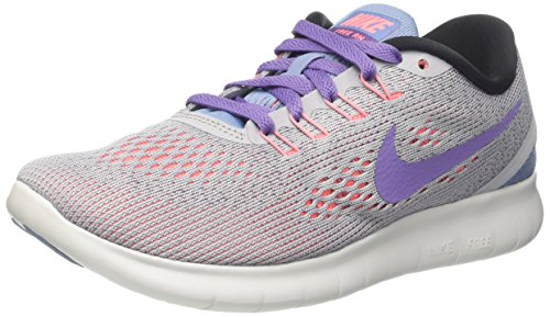 Nike Women's Free Rn Distance Running Shoe (5.5 B US, Wolf Grey/Purple Earth/Work Blue)