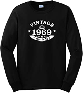 50th Birthday Gift Vintage 1969 Perfect Aged Crown Long Sleeve T-Shirt
