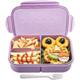 Bento Box,MISS BIG Bento Box for Kids,Ideal Leak Proof Lunch Box Kids,Mom's Choice Kids Lunch Box, No BPAs and No Chemical Dyes,Microwave and Dishwasher Safe Lunch Containers(Purple)