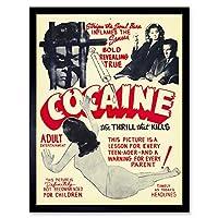 Cocaine Thrill That Kills Drugs Art Print Framed Poster Wall Decor 12X16 Inch ポスター壁デコ