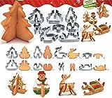 FantasyDay 3D Tema Natalizio Formine per Biscotti, 8 Pezzi Acciaio Inox Taglierine del Biscotto Formine Stampini Biscotti - Professionale Accessori e Utensili per Pasticceria, Decorazioni in Fondente