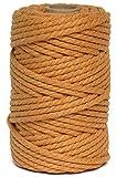 Cuerda/Hilo Macrame de Algodón Ocre 5mm-Cortina...