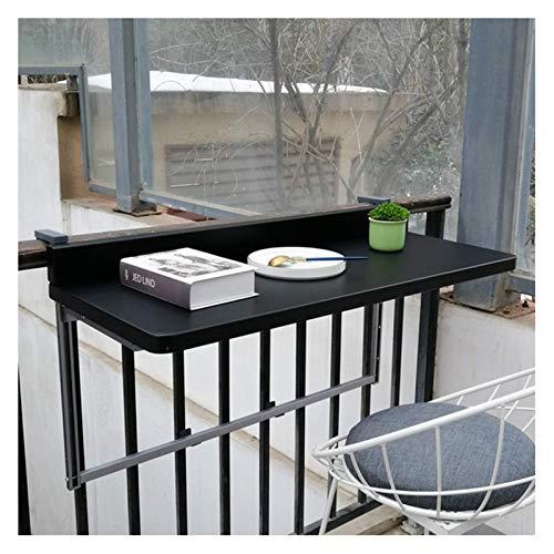 NC Mesa Plegable Negra, Mesa Colgante de Aluminio para balcón, Mesa de...