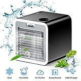3 en 1 Mini Enfriador de Aire, Aire Acondicionado Portátil, Humidificador con Mango, refrigerador de aire para trabajo y hogar