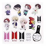 Mini Office Depot KPOP BTS Stickers, Cartoon Car Stickers Parches Bumper Sticker Decal para Snowboard Laptop Equipaje Coche Motocicleta Bicicleta Nevera y más(Style 07)