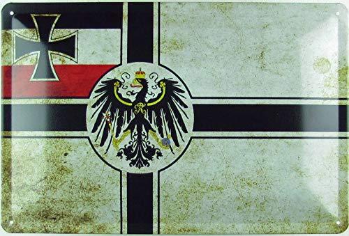 Buddel-Bini Versand - Cartel decorativo (20 x 30 cm, metal), diseño de bandera de Alemania