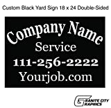Yard Sign 18 x 24 Custom Double-Sided with Metal Stakes