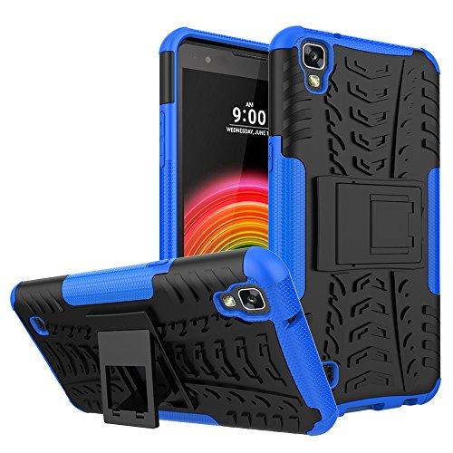 Hongjian Funda para LG X Power K220 Soft Shell Viewing Bracket Case Cover 2