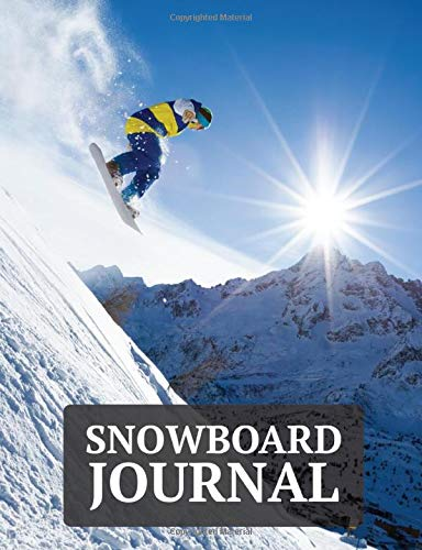 """Snowboard Journal: A Wide Ruled Composition Book for Snowboarders with a Beautiful Snowboard Themed Cover -7.4"""" x 9.7"""" - 200 Pages"""