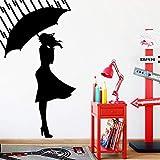 yaonuli Chica de Dibujos Animados decoración del hogar calcomanía Sala de Estar habitación Infantil calcomanía de Pared Impermeable 87X160cm