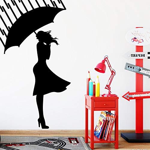 yaonuli Cartoon Mädchen Hauptdekoration Aufkleber Wohnzimmer Kinderzimmer wasserdicht Wandtattoo 58X23cm