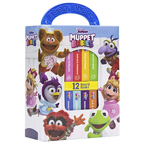 Disney Junior - Muppet Babies My First Library Board Book Block 12-Book Set - PI Kids