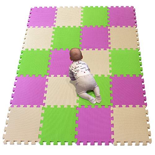 YIMINYUER Alfombra puzles para Bebe Puzzle Infantil Suelo Piezas Goma eva ninos de Suelo Grande Infantiles Rosado Beige Pastoverde R03R10R15G301020