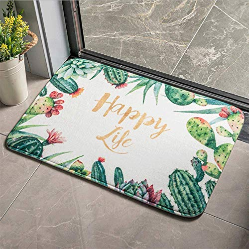 LHJY 40x60cm Four Seasons Door Mat Indoor/Outdoor, Home Geometric Doormat Non-slip Backing(Support Customization)(Size:40×60cm(15.7×23.6in,Color:A8)