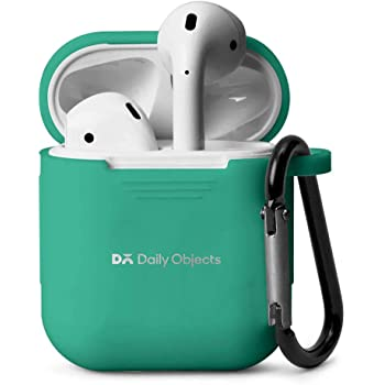 DailyObjects Silicone Slim Portable Lightweight 360* Shock Proof Protection Sleeve Case Cover for Apple AirPods Wireless Headset Earphone (Neon Sea)