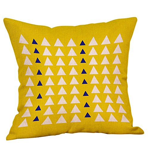 Sylar Funda de Almohada Mostaza Funda de cojín de otoño geométrica Amarilla Funda de Almohada Decorativa para el día de San Valentín