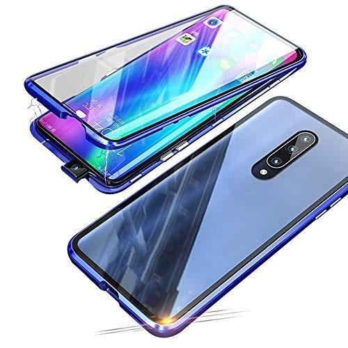 Jonwelsy Funda para Xiaomi Mi 9T / 9T Pro (6,39 Pulgada), 360 Grados Delantera y Trasera de Transparente Vidrio Templado Case Cover, Fuerte Tecnología de Adsorción Magnética Metal Bumper Cubierta
