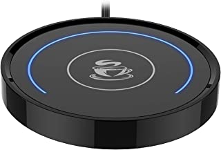 Coffee Mug Warmer, Cup & Coffee warmer Smart Thermostat Coaster for Hot Tea Beverage Office/Home Desk Use with Gravity Switch Auto On/Off 135F, Semi-ring LED Indicator