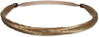Mia Fishtail Braidie, Beautiful Braided Headband Made of Synthetic Wig Hair on Elastic Rubber Band, Blonde Color, For Women and Girls 1pc