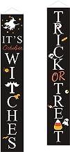 Colcolo Banner de festa de Halloween para decoração de porta, fundo de varanda, sinalização de suprimentos