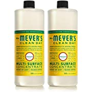 Mrs. Meyer's Clean Day Multi-Surface Cleaner Concentrate, Use to Clean Floors, Tile, Counters, Honeysuckle Scent, 32 oz - Pack of 2