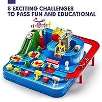 CubicFun Pista Macchinine Giochi Bambini 3 4 5 Anni Set di Giocattoli per Pista da Corsa, Elicottero e 3 Auto Giocattoli Educativo per Bambini Regalo #1