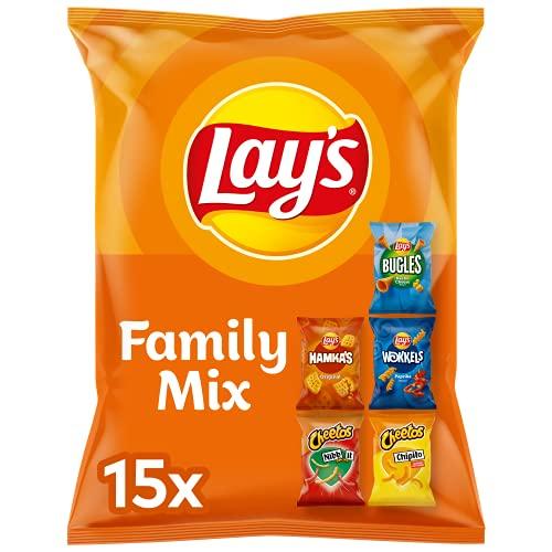 Lay's Family Mix Chips, Zak 1 stuk x 337,5 g (15 zakjes / 5 smaken)
