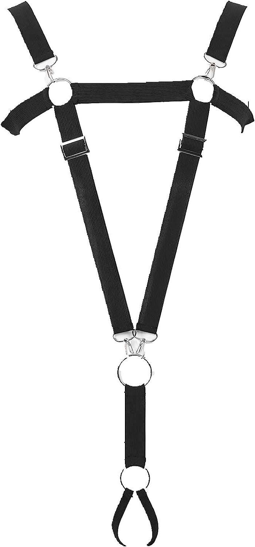 dPois Men's Stretchy Elastic Body Chest Suspenders Jock Strap Bottoms Harness Belts